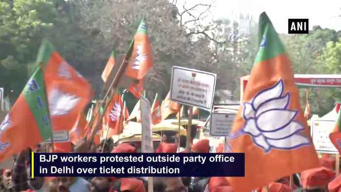 Delhi elections BJP workers show rage over party ticket distribution