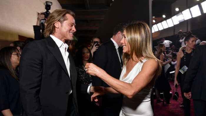 Brad Pitt and Jennifer Aniston reunite at SAG Awards