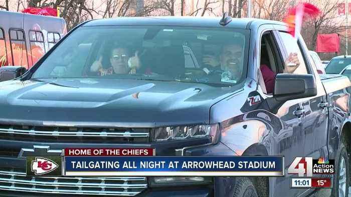 Tailgating all night at Arrowhead Stadium