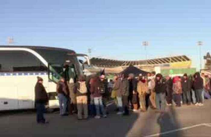 Gun rights activists board buses to Virginia rally
