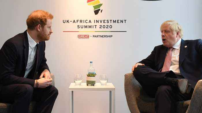 Prince Harry And Boris Johnson Meet African Leaders In London