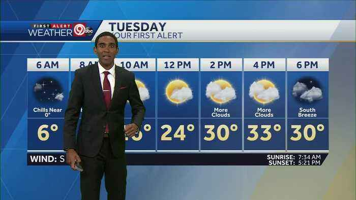 Single-digit temps to start Tuesday
