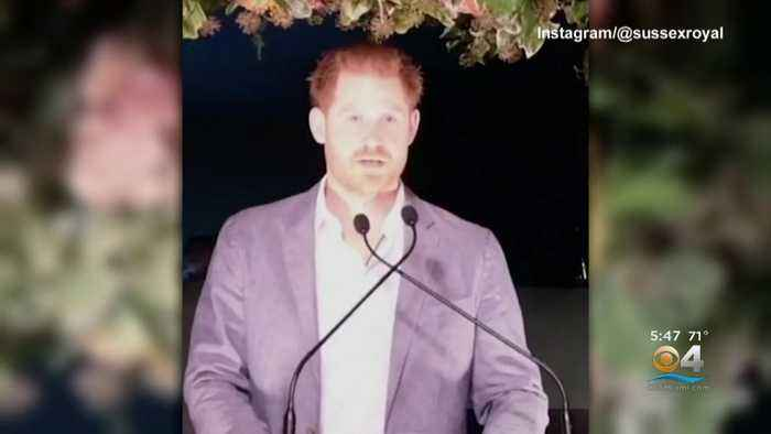 Prince Harry Speaks Publicly For First Time Since Split With Royal Family
