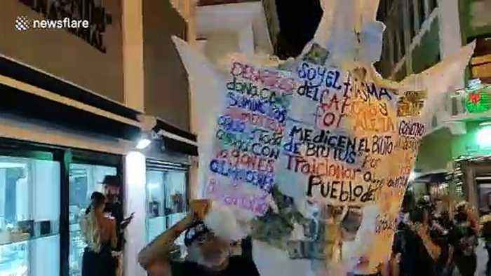 Puerto Rico protesters demand governor's resignation