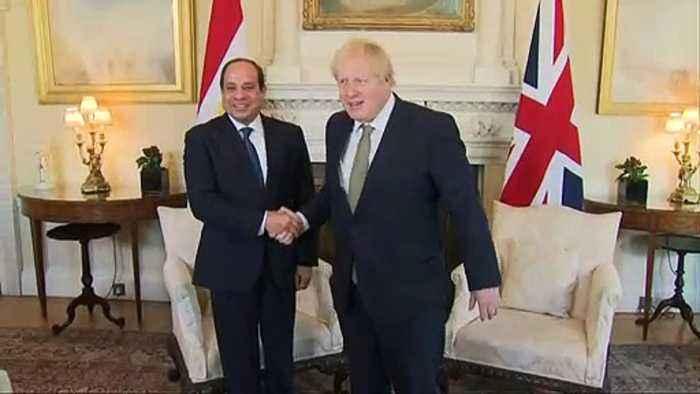 Johnson holds talks with Egyptian president