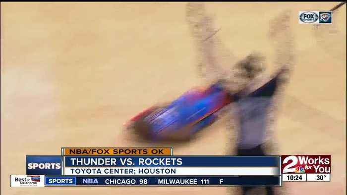 OKC Thunder rallies from 16-point 4th quarter deficit to defeat Houston Rockets, 112-107