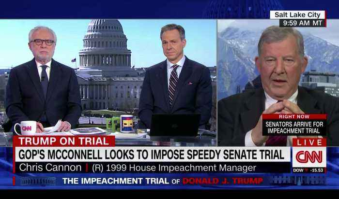 Former Republican Impeachment Manager Doesn't Follow CNN Script