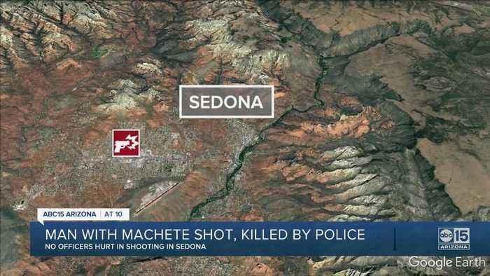 Man with machete shot, killed by Sedona police