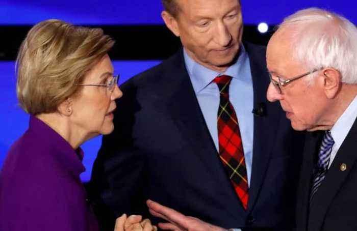 Sanders now tied with Biden after Warren dispute