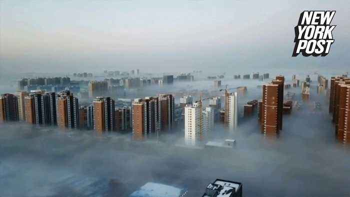 Fog turns skyscrapers into Cloud City from 'Star Wars'