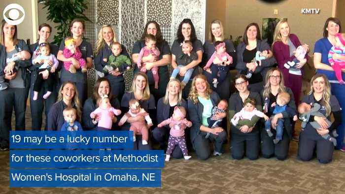 WEB EXTRA: NICU Coworkers Have 19 Babies In 2019