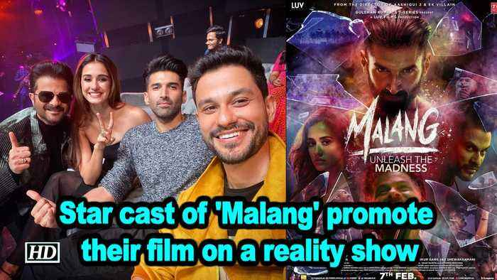 Star cast of 'Malang' promote their film on a reality show