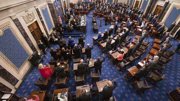 Senate Approves Impeachment Trial Rules After Contentious Debate