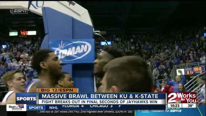 Massive brawl breaks out between Kansas and Kansas State Basketball players