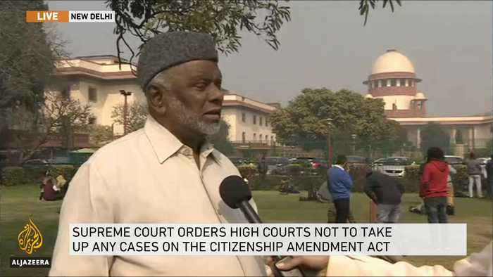 Citizenship law: India's top court gives government four weeks to respond