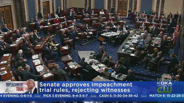U.S. Senate Approves Impeachment Trial Rules Along Party Line Vote