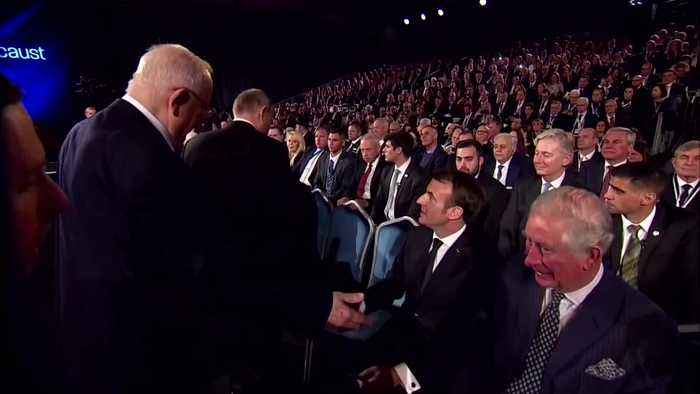 The awkward moment Prince Charles misses a handshake with Mike Pence