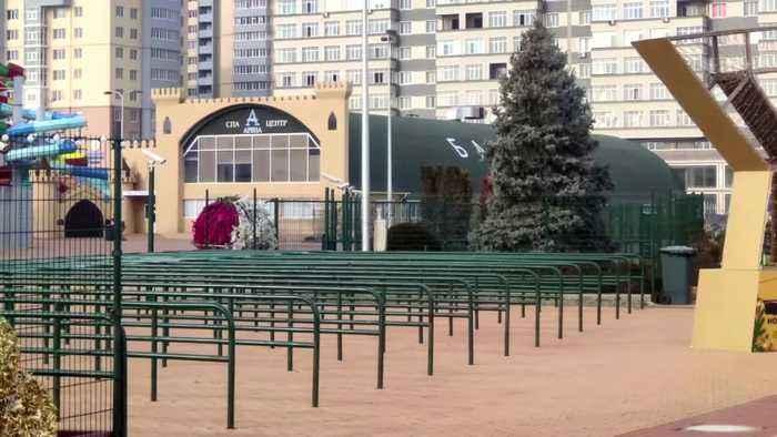 The biggest swimming pool in Russia's North Caucasus bans women