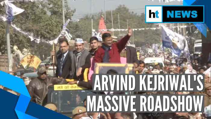 Delhi Elections 2020 | CM Arvind Kejriwal holds massive roadshow in Matiala