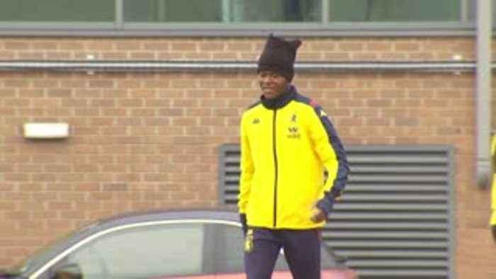 Samatta training with Aston Villa