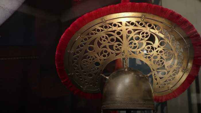 3D recreation shows elaborate headdress of Iron Age mystery warrior