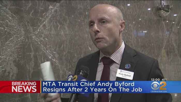 MTA Transit Chief Andy Byford Resigns After 2 Years On The Job
