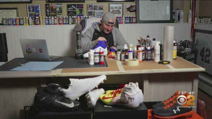 Snapshot NY: New Jersey Man Designs Hand-Painted Cleats For NFL Players