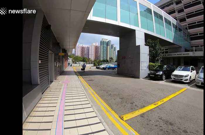 Scenes at Princess Margaret Hospital in Hong Kong where two patients are being treated for coronavirus
