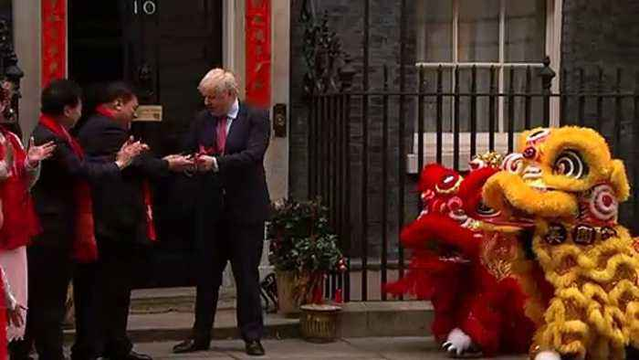 Boris Johnson celebrates Chinese New Year at Number 10