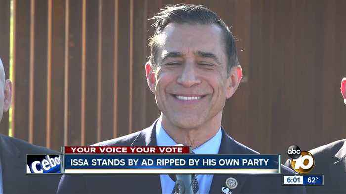 Issa stands by ad ripped by San Diego GOP