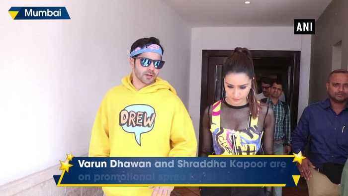 Varun Dhawan Shraddha Kapoor oomph up style game during Street Dancer 3 promotion