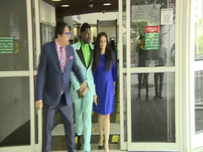 WEB EXTRA: NFL Free Agent Antonio Brown Bonds Out Of Jail