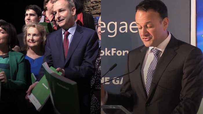 Fianna Fail and Fine Gael unveil manifestos for General Election