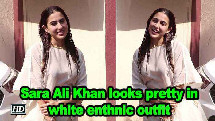 Sara Ali Khan looks pretty in white enthnic outfit