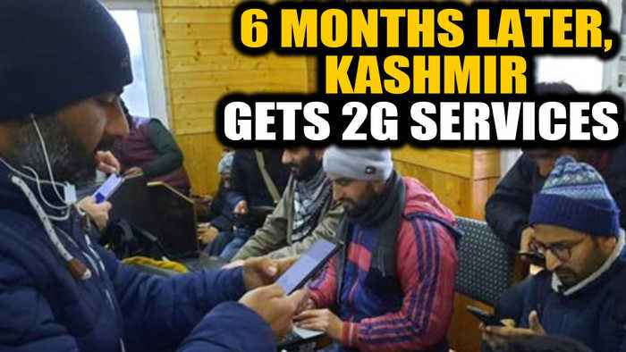 6 months on, Kashmir gets 2G data services, broadband with restrictions | OneIndia News