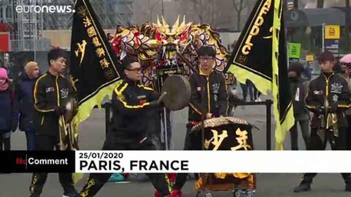 Watch: Chinese New Year is celebrated at the Eiffel Tower