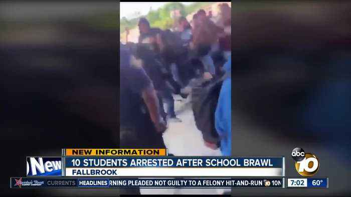 10 Fallbrook students arrested for school brawl