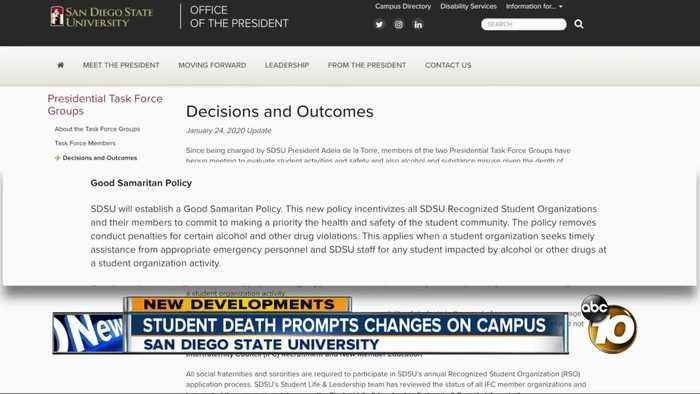 SDSU student death prompts changes on campus