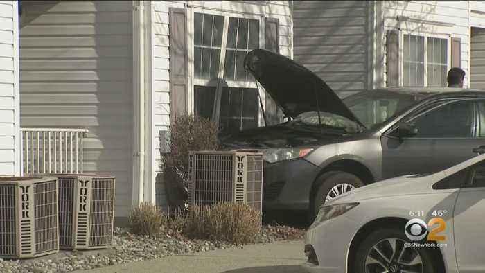 Car Hits Apartment Complex In Edison, NJ