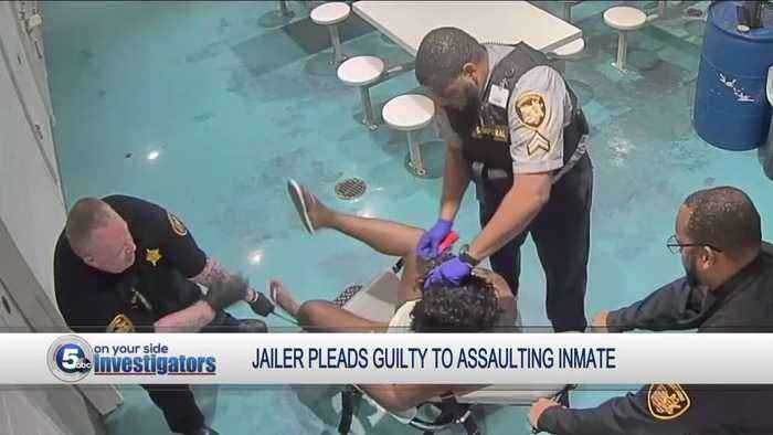 Jailer who pepper-sprayed restrained inmate pleads guilty to attempted felonious assault and unlawful restraint