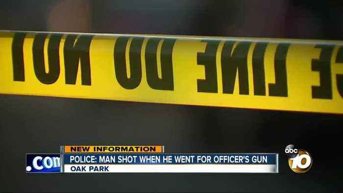 Police: Man shot when went for officer's gun