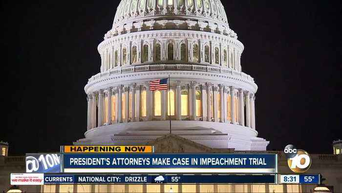 President's attorneys make case in impeachment trial