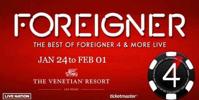 Foreigner opens residency at Venetian Las Vegas