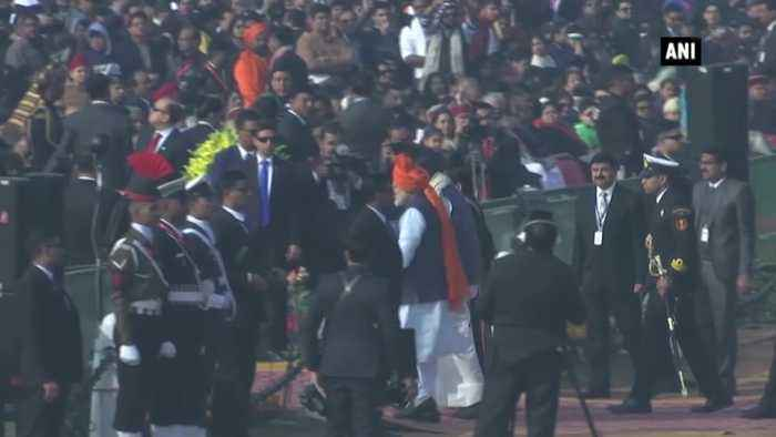 President Kovind, PM Modi, VP Naidu arrive at Rajpath for Republic Day parade