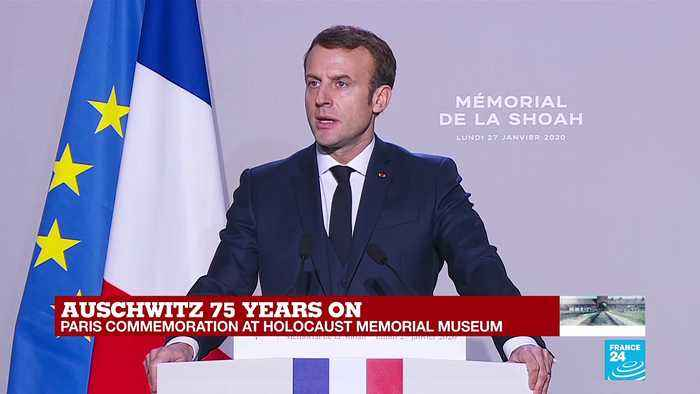 'We must never heal the wounds of the Holocaust,' says Macron