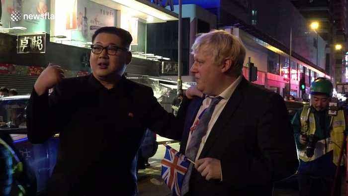 Hilariously foul-mouthed Boris Johnson and Kim Jong-un impersonators delight Hong Kong