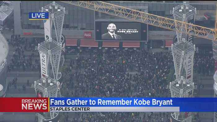 'This Is The House That Kobe Built': Fans Converge On Staples Center To Mourn NBA Legend