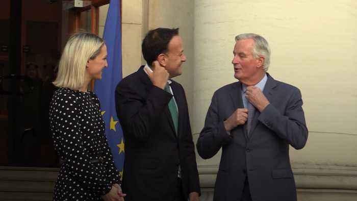 Michel Barnier meets Taoiseach Leo Varadkar ahead of Brexit