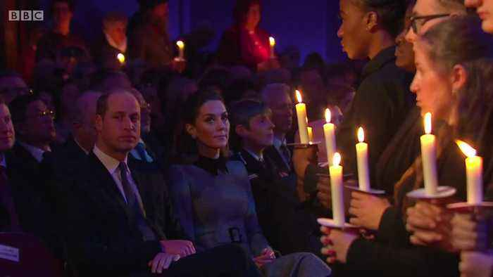 William and Kate attend Holocaust Memorial Day ceremony