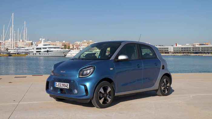 smart EQ forfour Design in steel blue